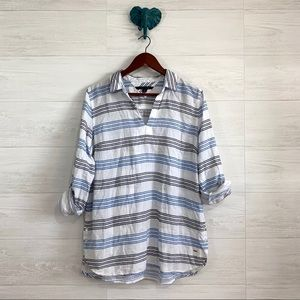 Tommy Hilfiger Striped Nautical Popover Tunic Top